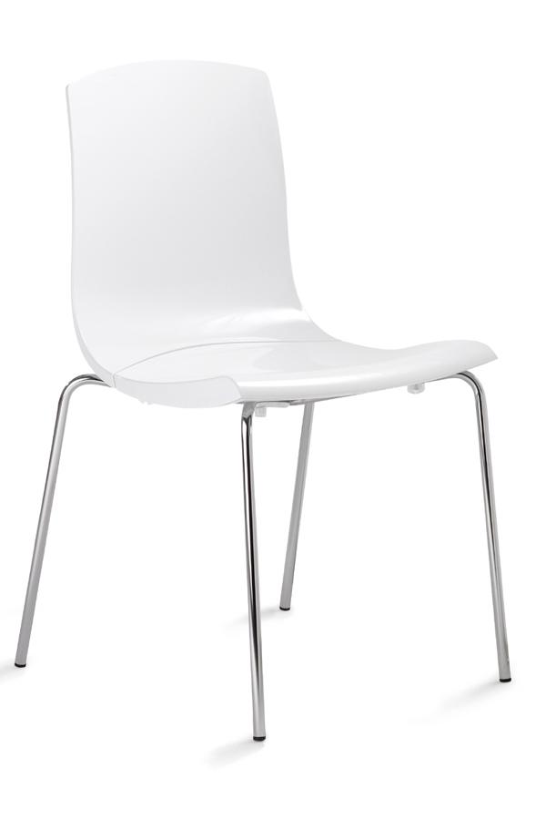 StuhlWeißer Hartschalensitz Bequemer Robuster Und Besucher vmOnN8w0
