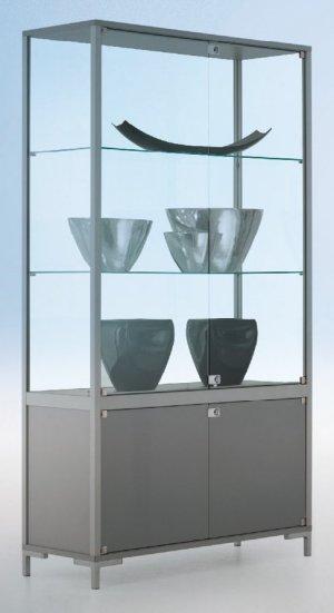 stabile sicherheitsglas standvitrine 80x40x186 cm abschlie baren drehfl gelt ren. Black Bedroom Furniture Sets. Home Design Ideas