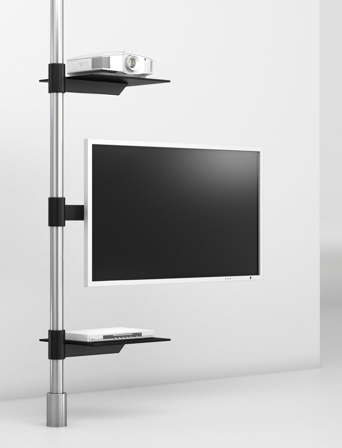 TV-Halterung zur Boden-Decke-Einspannung drehbarer TV-Tragarm