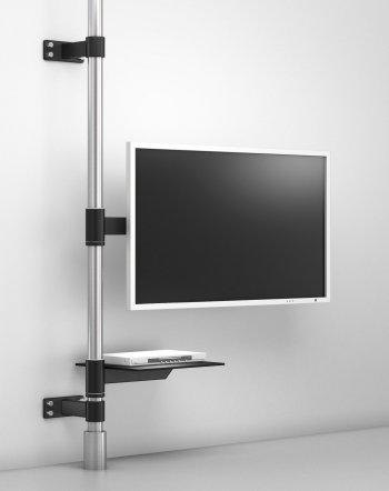 TV-Boden-Deckenhalterung mit Schwenkarm Flachbildfernseher bis 65 Zoll