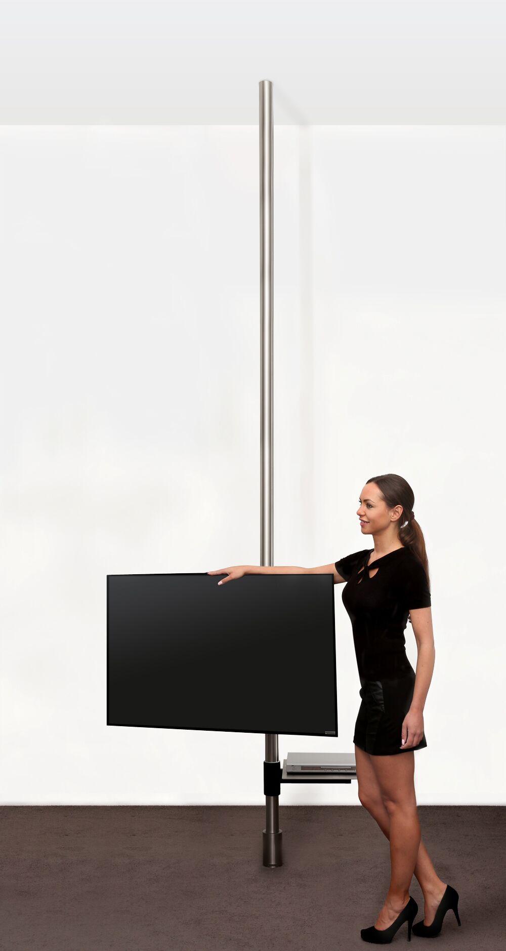 tv boden deckenhalterung drehbare flachbildfernseher halterung. Black Bedroom Furniture Sets. Home Design Ideas