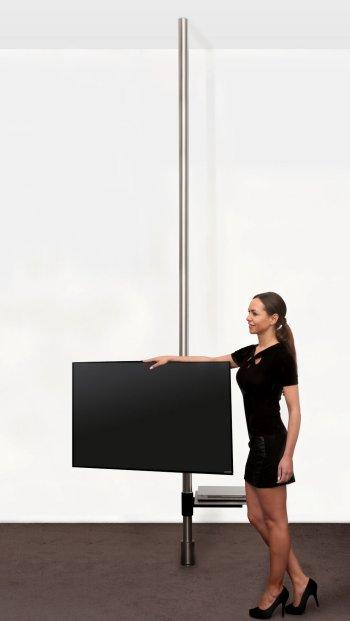 Tv halterungsstange zur boden deckenmontage - Flachbildfernseher wandmontage ...