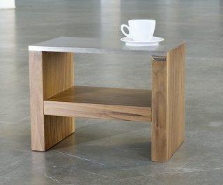 hochwertiger nachttisch aus robustem massivholz oberboden wahlweise edelstahl oder holz eiche. Black Bedroom Furniture Sets. Home Design Ideas