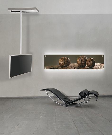 frei drehbare und schwenkbare tv deckenhalterung mit. Black Bedroom Furniture Sets. Home Design Ideas