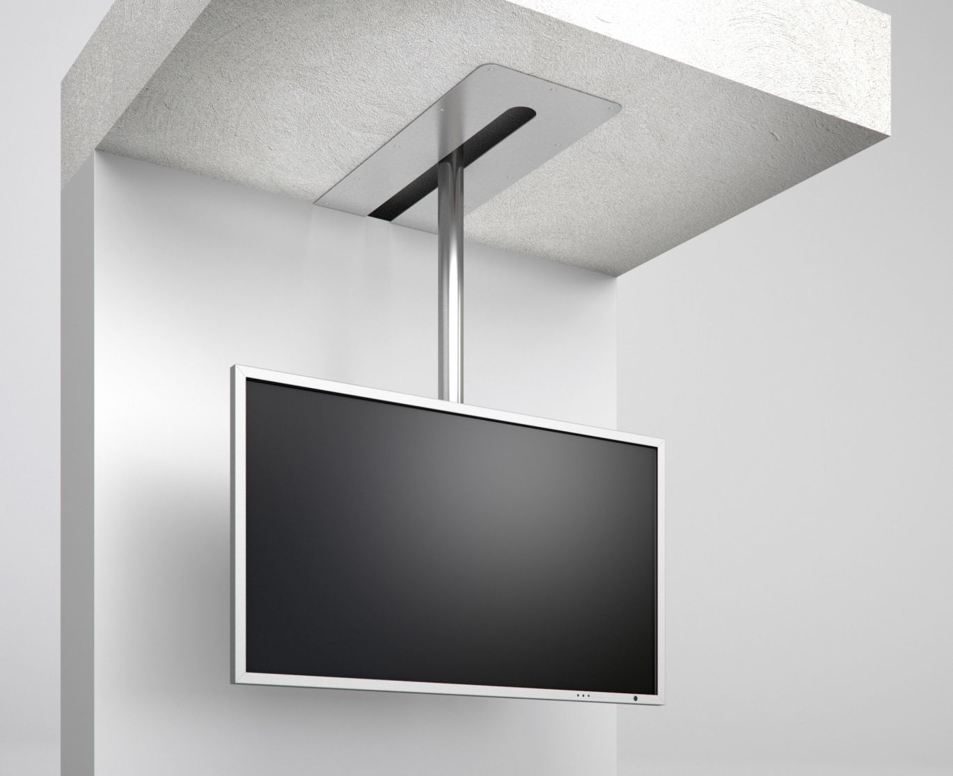 tv deckenhalterung tv halterung drehbar schwenkbar verschiebbar screentrain wissmann. Black Bedroom Furniture Sets. Home Design Ideas