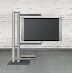 stabiler fernseher standfu zur bodenmontage mit frei schwenkbarer tv halterung bis 85 zoll. Black Bedroom Furniture Sets. Home Design Ideas