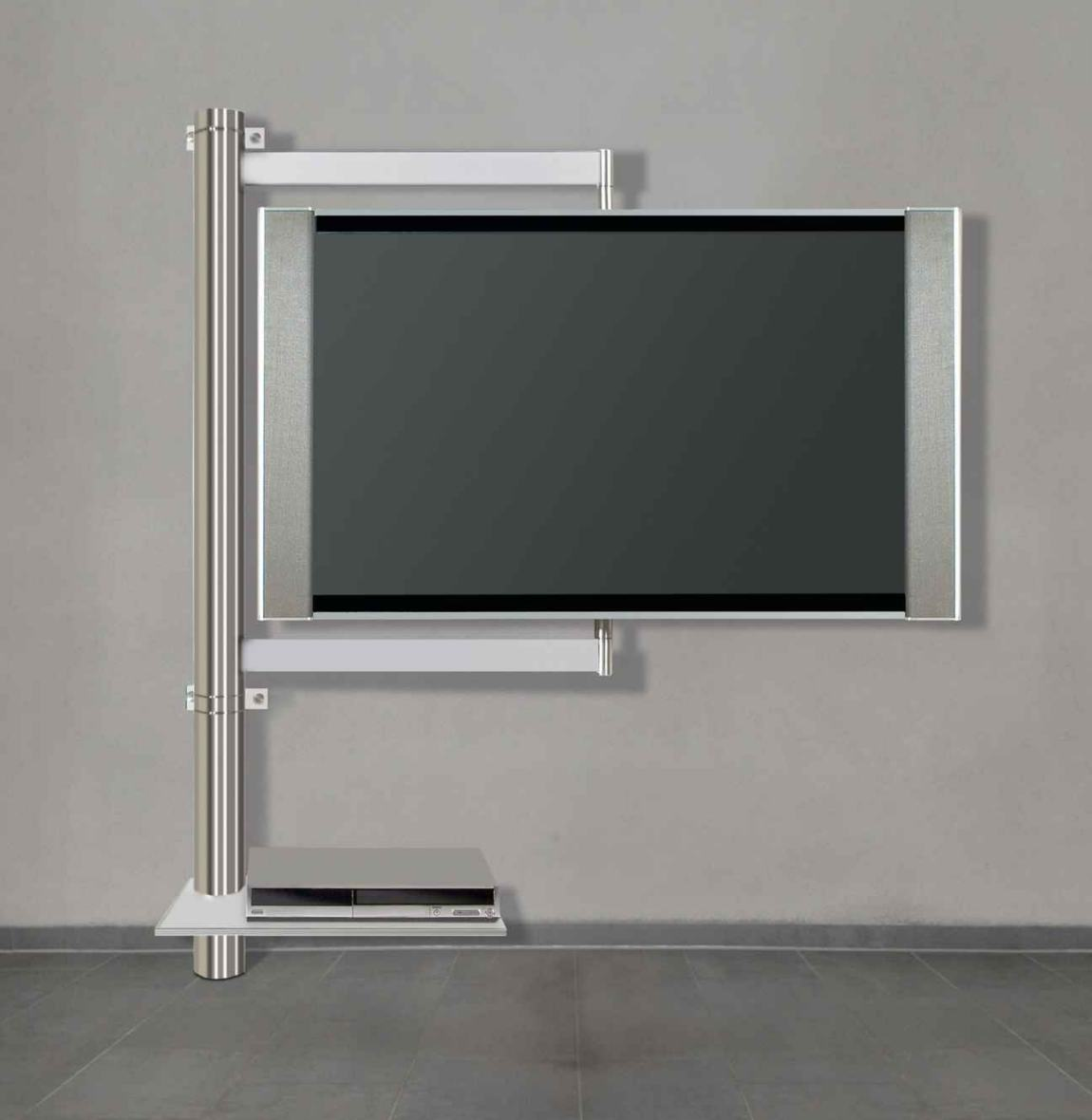 frei drehbare flatscreen wandhalterungfachboden f r av ger te. Black Bedroom Furniture Sets. Home Design Ideas