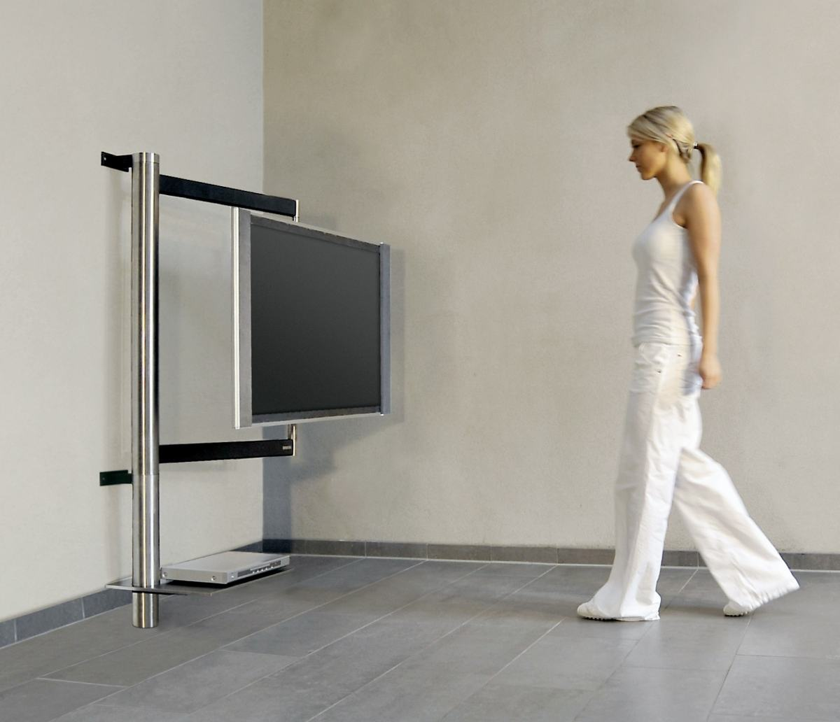Design tv möbel drehbar  frei drehbare Flatscreen-Wandhalterung: Querstreben, Wandhalterungen ...