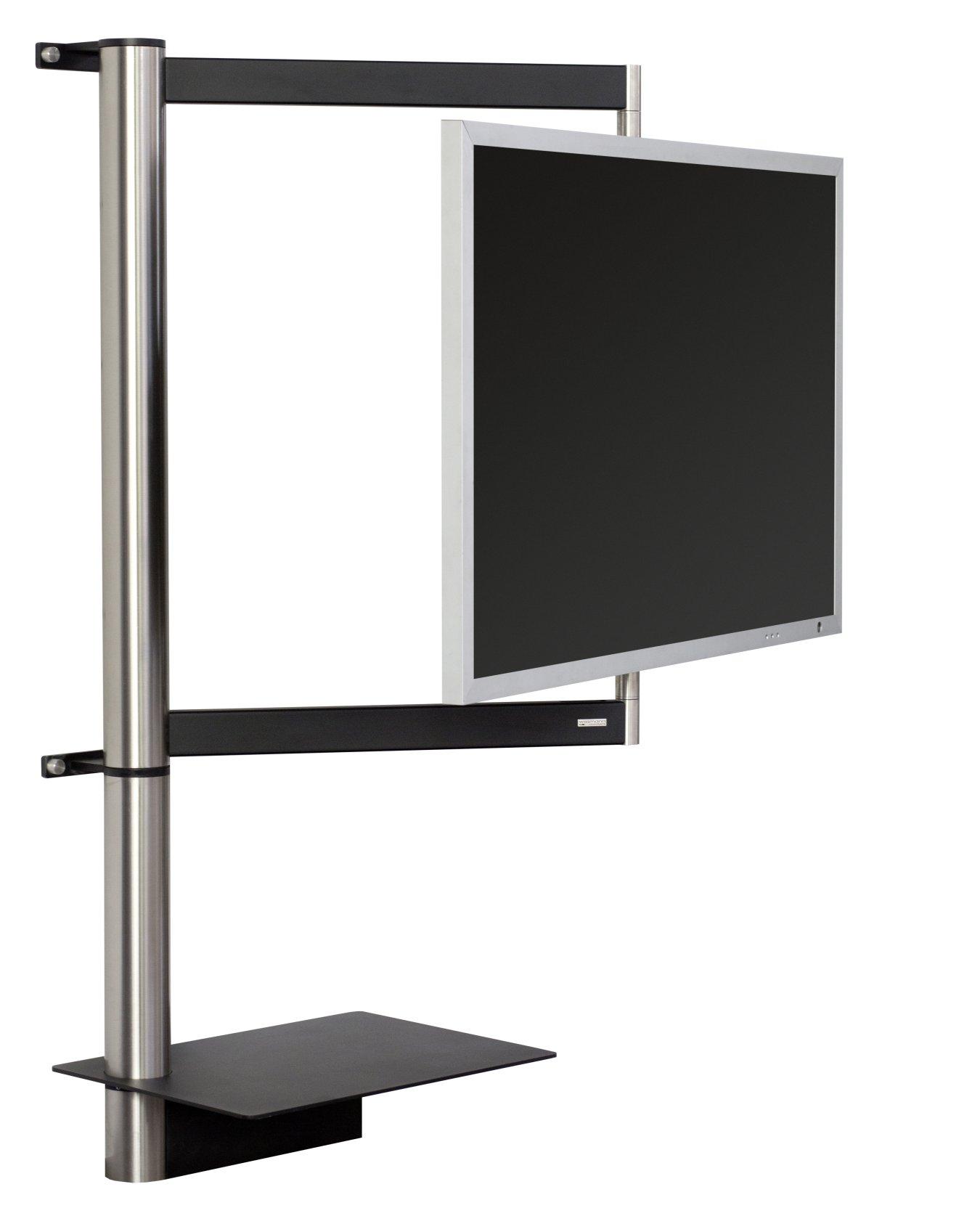 Frei drehbare flatscreen wandhalterung querstreben wandhalterungen und fachboden f r receiver - Wandhalterung tv und receiver ...